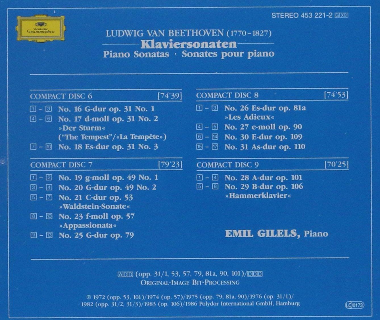 Ludwig van Beethoven, Emil Gilels - Beethoven: 29 Piano Sonatas ...