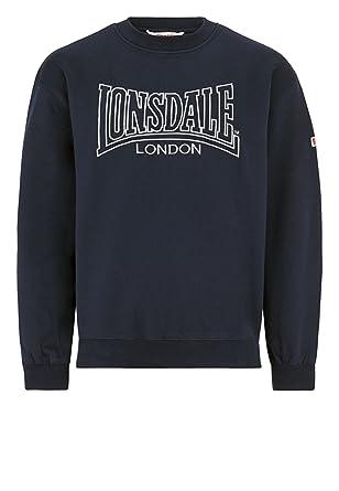 Lonsdale Men´s Regular-fit Crew Neck Sweatshirt Berger Navy Blue (X ... 19a538e1e7