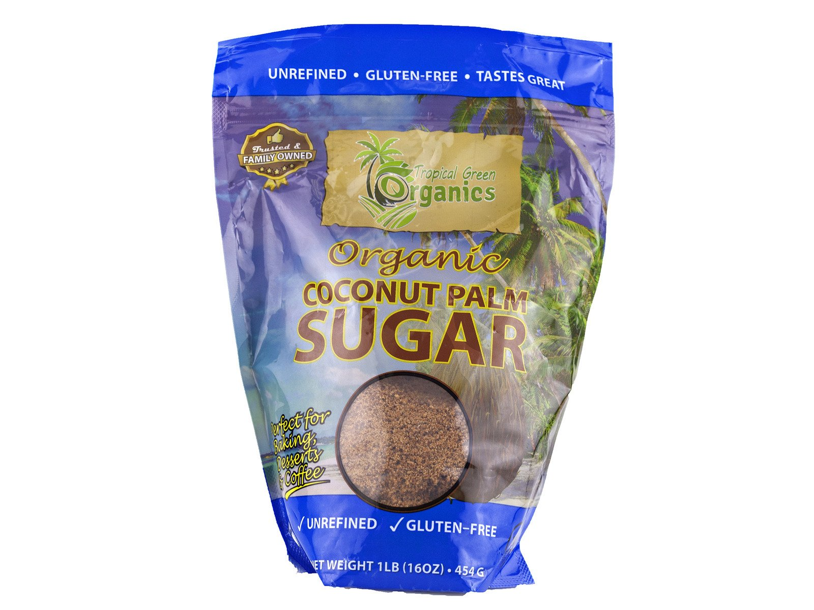 Organic Coconut Palm Sugar 1 lb. [Pack of 6]
