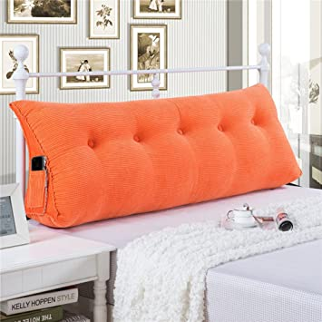 WOWMAX Large Filled Triangular Sofa Bed Back Cushion Positioning Support  Backrest Pillows Reading Pillows With Removable