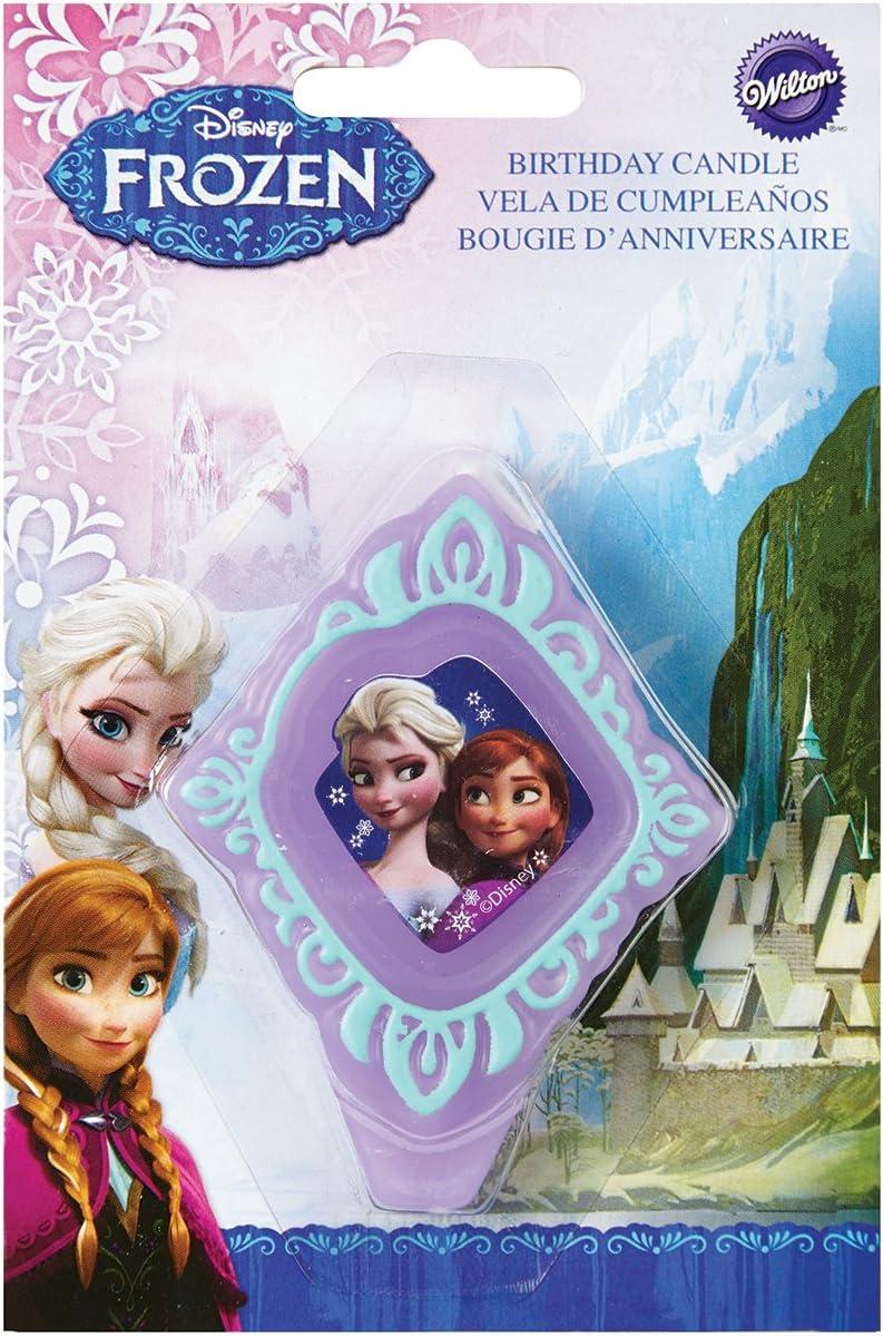 Wilton 2811-4500 Disney Frozen Birthday Candle, 3.25 in, Assorted