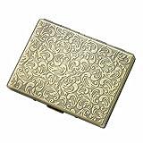 New Scale Gold Single Sided Cigarette Cigar Card Case for 9 - Premium Guaranteed