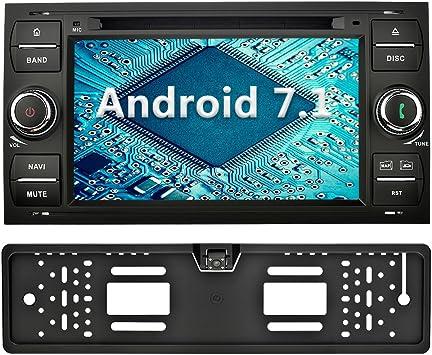 Yinuo 7 Zoll 2 Din Android 7 1 1 Nougat 2gb Ram Quad Core Autoradio Moniceiver Dvd Gps Bluetooth Navigation Für Ford C Max Connect Fiesta Focus Fusion Galaxy Kuga S Max Schwarz Autoradio Mit Kamera 4 Sport Freizeit