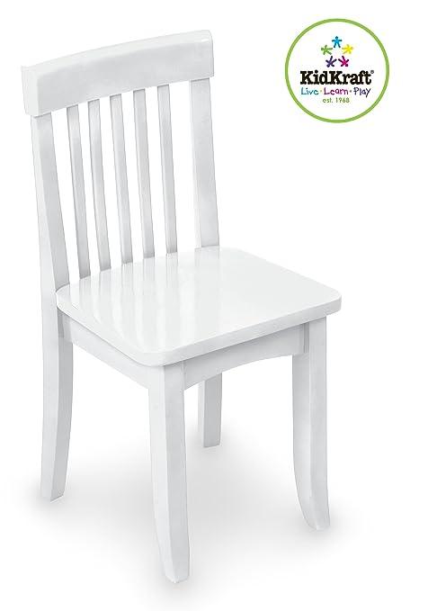 Peachy Kidkraft Avalon Wooden Single Classic Back Desk Chair For Children White Ncnpc Chair Design For Home Ncnpcorg