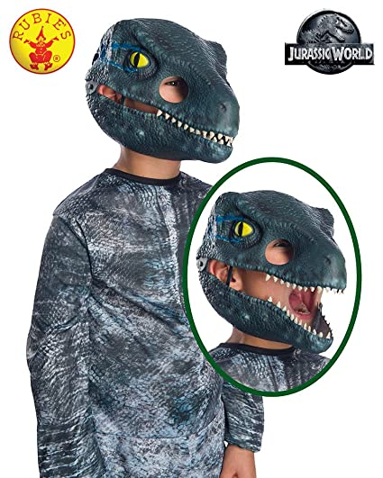 Rubies Jurassic World: Fallen Kingdom Childs Blue Velociraptor Movable ...