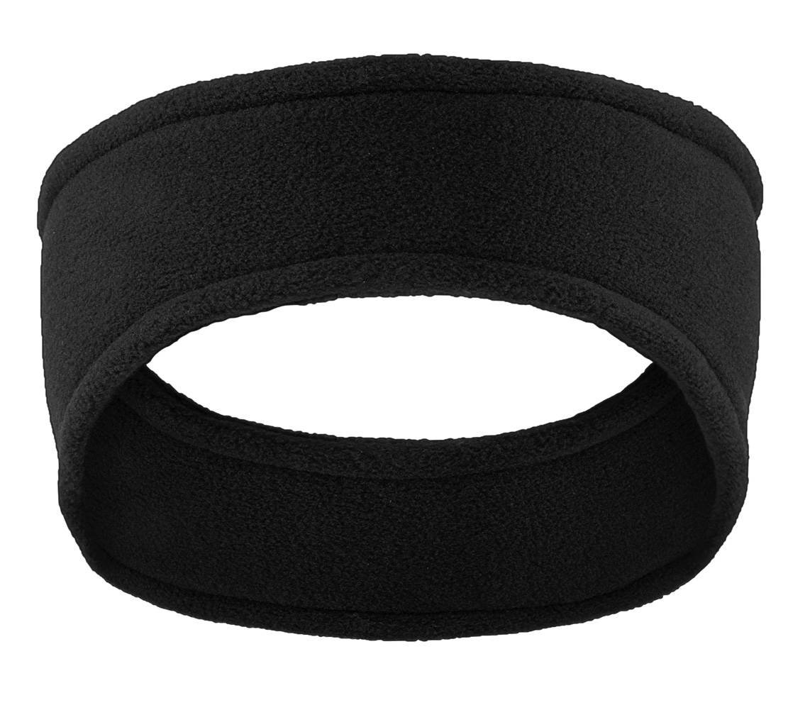Black Soft Stretch Fleece Headband Ear Warmer Wrap Gravity Trading
