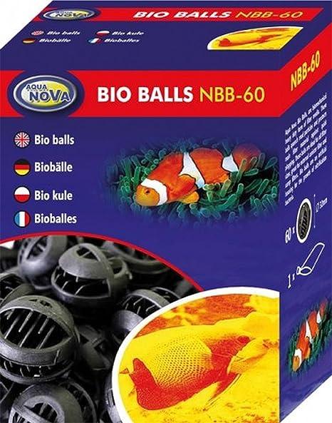 Aqua Nova – Bolas de Biodegradable x 60 – Filtro Multimedia para Acuario Acuario Acuario pecera