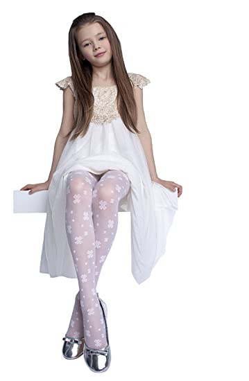27e02c9a7 Amazon.com  Beautiful Patterned Tights for Girls by Fiore  Clothing