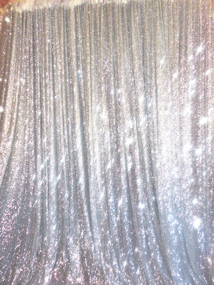 BalsaCircle 20 ft x 10 ft Silver Sequins Backdrop Curtain