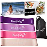 Bondi Booty | Resistance Loop Exercise Bands | Free Ebook, Carry Bag and Instruction Guide | Set of Four
