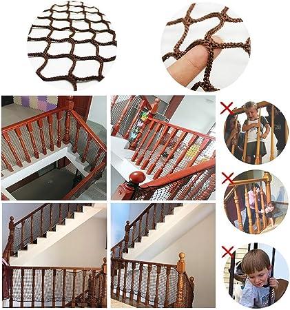 Red De Protección contra Caídas para Niños, Red De Rieles para Escaleras De Seguridad, Cerca De Balcón para Patios Red De Protección para Niños, Red Exterior para Cubrir El Perímetro del Balcón: