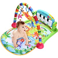 Mumoo Bear Baby Gym Play Mats, Kick and Play Piano Gym Activity Center for Infants