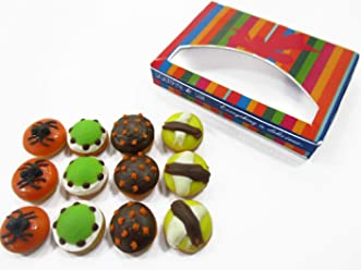 Dollhouse Miniatures Food Halloween seasonal Doughnut Paper Box Supply 14179