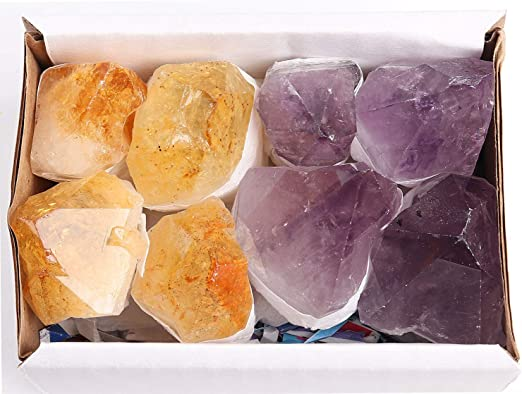 Brazilian Amethyst Quartz Crystal Natural Purple Point Healing Rock Stone Wand