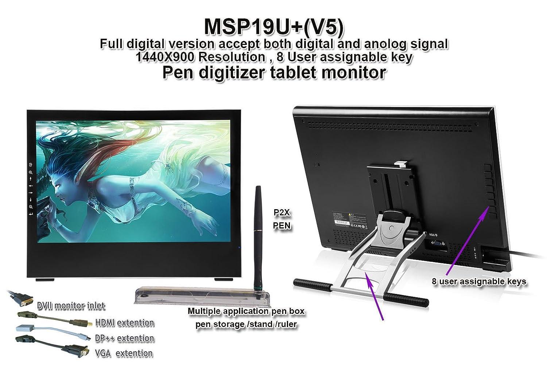 春早割 Yiynova 液晶モニター MSP19U+ 19インチ ペンタブレット デジタイザー B00FR1J5D0 液晶モニター VESAスタンド (Windows & 19インチ Mac対応) B00FR1J5D0, カイヅチョウ:aee115c1 --- diceanalytics.pk