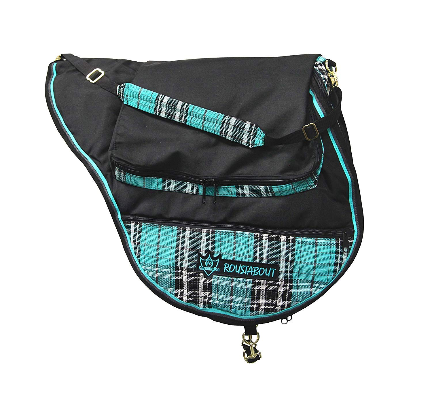 Kensington All Purpose Saddle Carrying Bag - Waterproof Outer Shell - Features Top Pad Storage Compartment - Padded Shoulder Pad for Carrying Comfort by Kensington