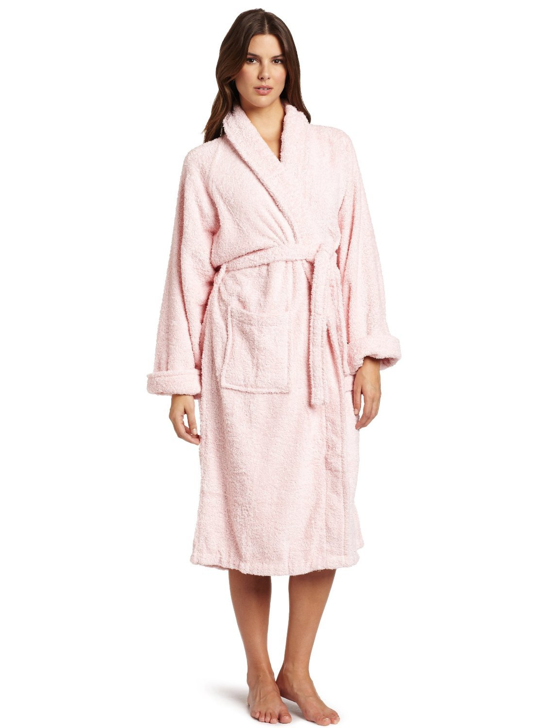 Superior Hotel & Spa Robe, 100% Premium Long-Staple Combed Cotton Unisex Bath Robe for Women and Men - XL, Pink