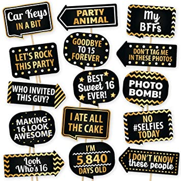 Amazoncom Sweet 16 Photo Booth Props By Partygraphix European