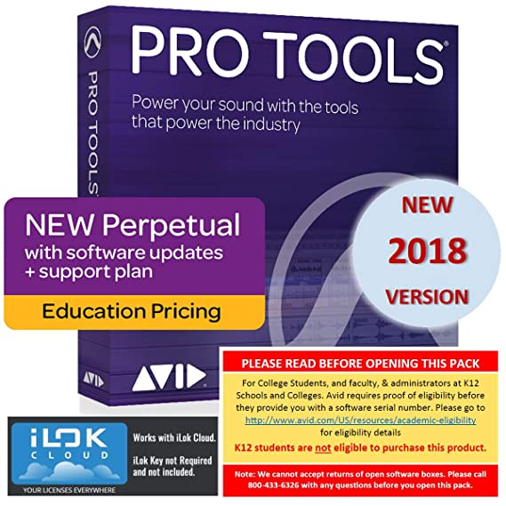 Amazon com: Avid Pro Tools 2018 Academic (Download Card Only