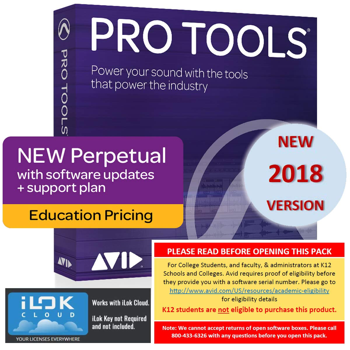 Avid Pro Tools 2018 Academic (Download Card Only – Activate with iLok Cloud)
