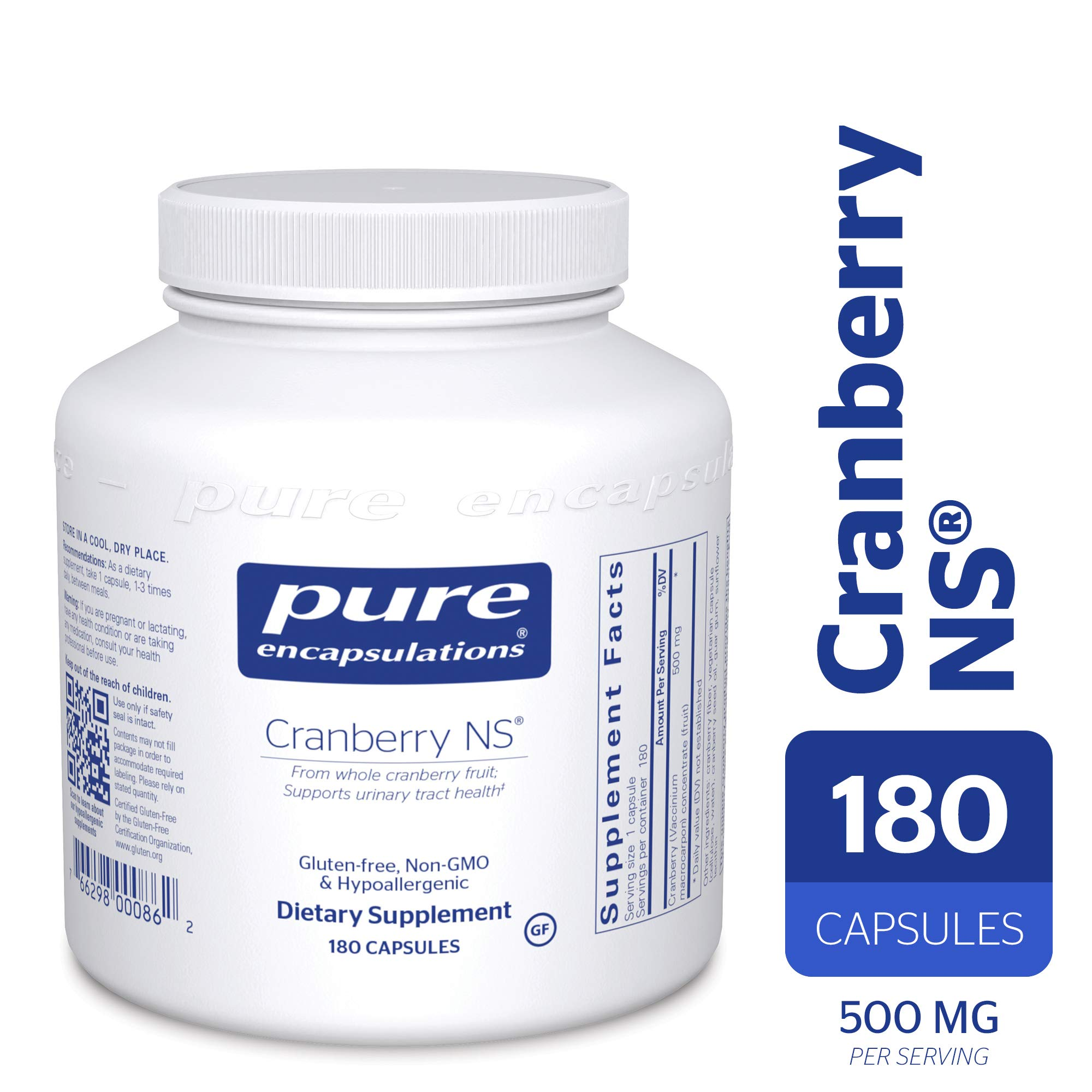 Pure Encapsulations - Cranberry NS - Hypoallergenic Supplement to Support Urinary Tract Health* - 180 Capsules by Pure Encapsulations