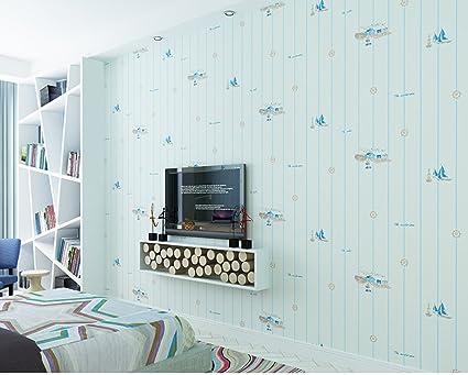 Homee Boys And Girls Children Room Environmental Stripe Pure Paper