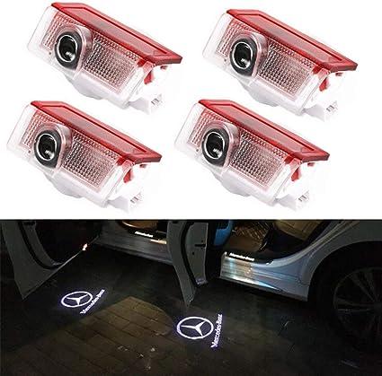 4 Pack Coche Iluminación de la entrada proyector Puerta Logo Light ...