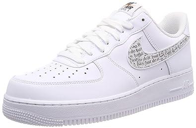 new style 15320 9be55 Nike Men s Air Force 1  07 Lv8 JDI Lntc Fitness Shoes, Multicolour White