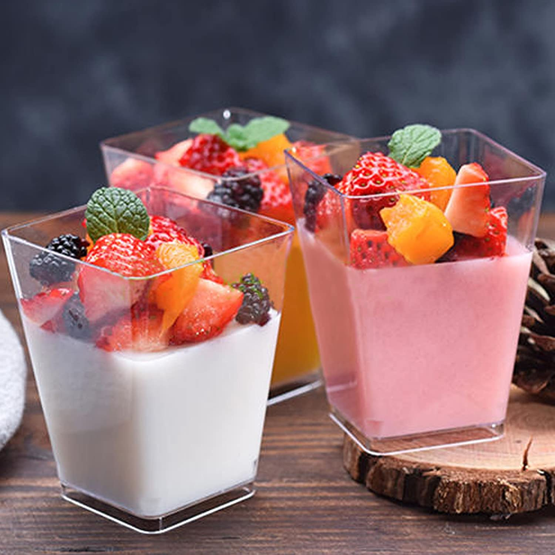 antipasti e salsine Bicchierini cubici per dessert decorativi 50 pezzi
