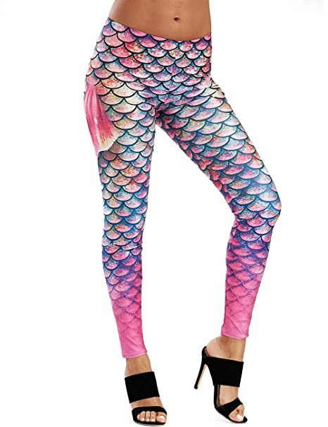 Amazon.com: Michelle & a para mujer Leggings de sirena mar ...