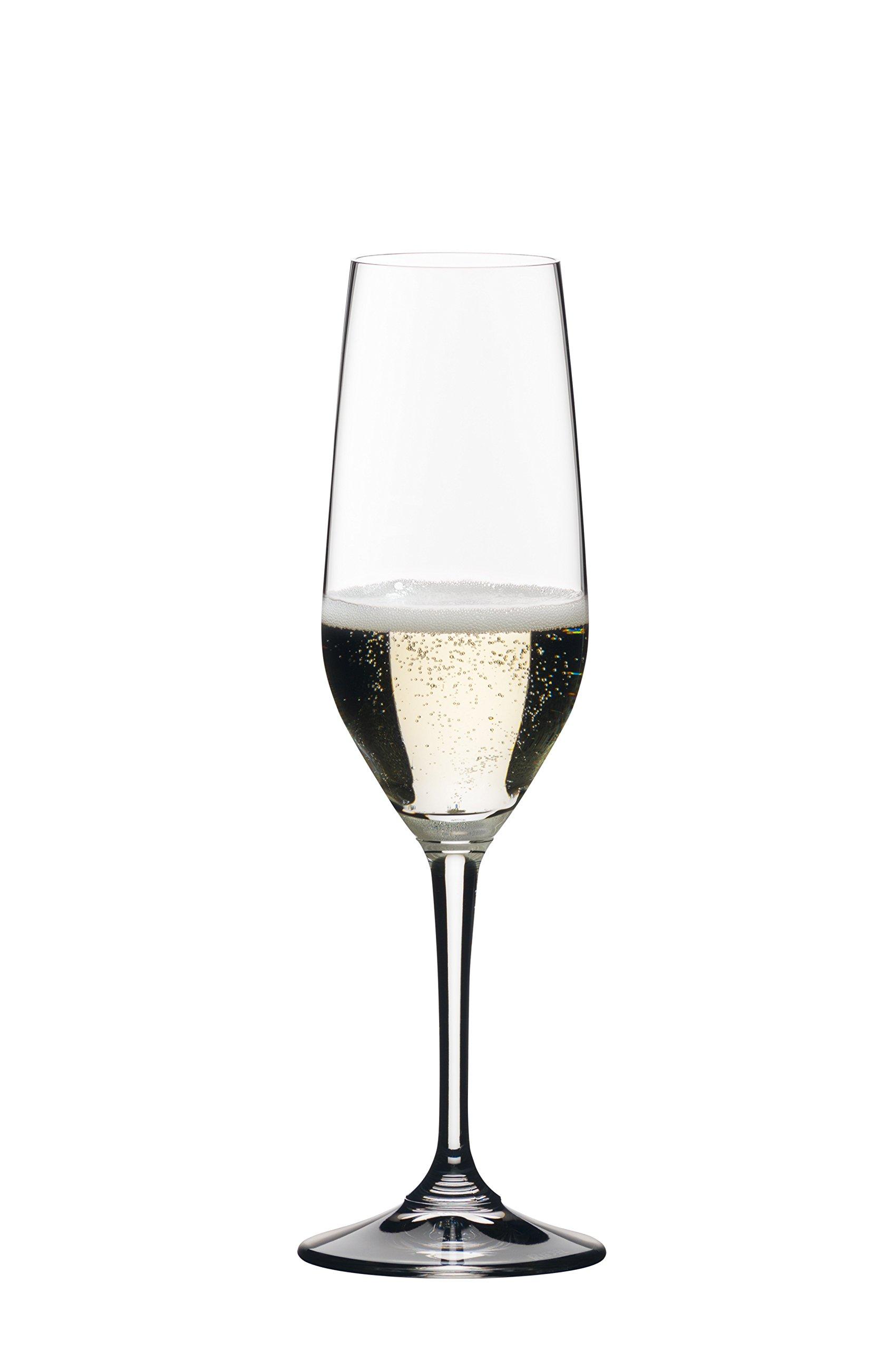Riedel 0484/08 Vivant Champagne Flutes, 10.23 oz, Clear