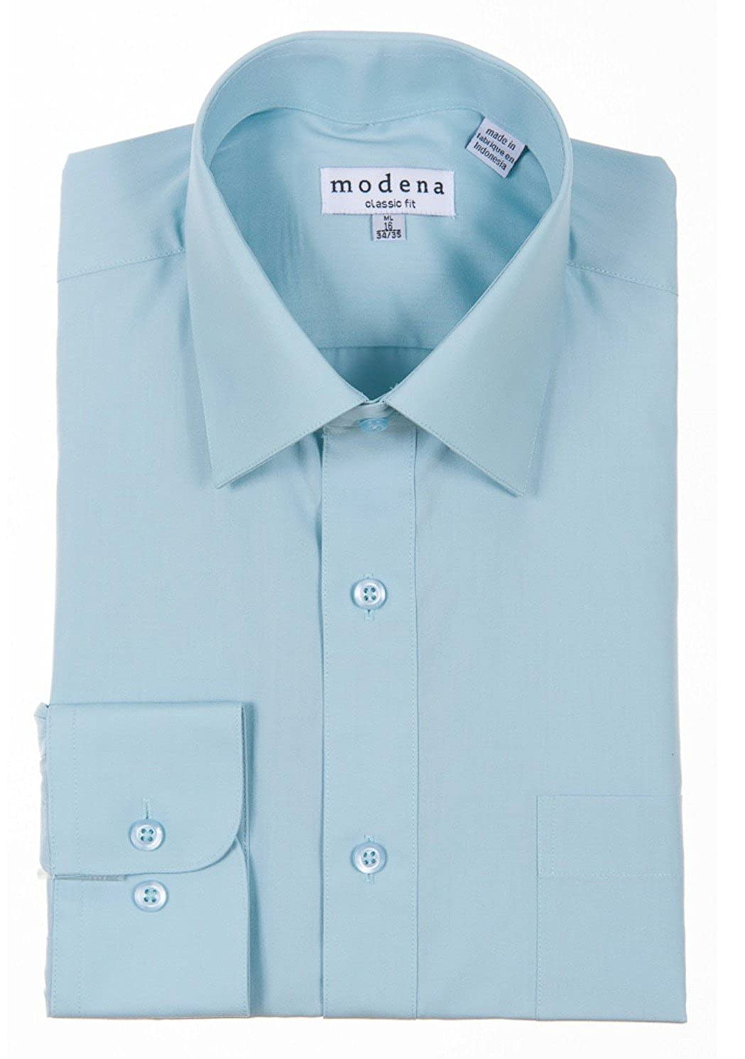 387e8620b1615 Modena Men's Regular & Contemporary (Slim) Fit Long Sleeve Solid Dress  Shirt – Colors (All Sizes)