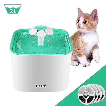 Amazon.com: Fuente de agua para gatos y perros con filtro ...