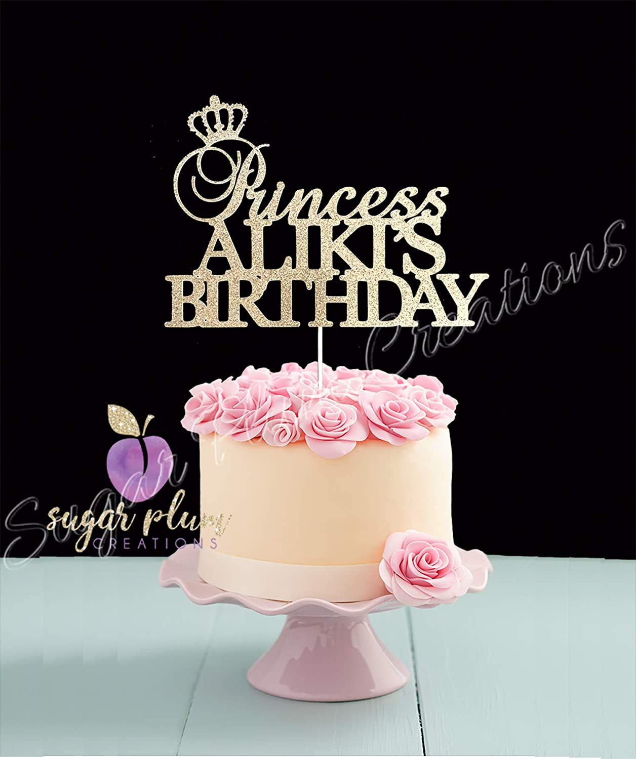 Peachy Amazon Com Princess Birthday Cake Topper Arts Crafts Sewing Funny Birthday Cards Online Overcheapnameinfo