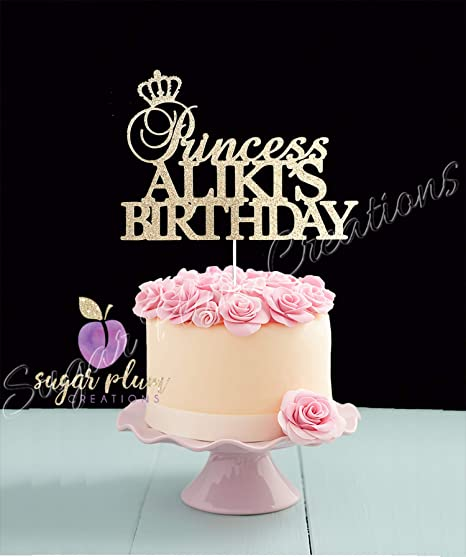 Astounding Princess Birthday Cake Topper Amazon Ca Home Kitchen Funny Birthday Cards Online Alyptdamsfinfo