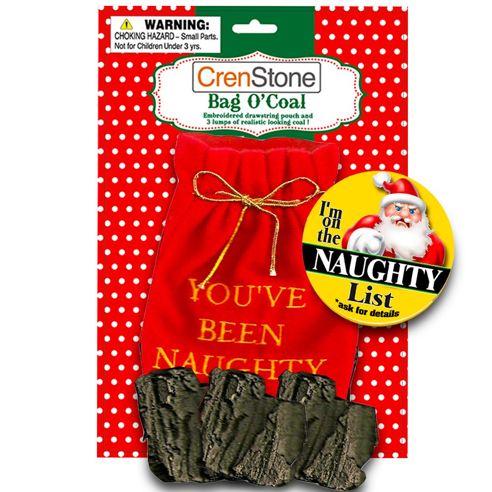 Amazon.com: Christmas Lump of Coal Naughty (With Gift Bag): Toys & Games
