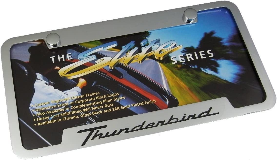 Elite Automotive Products Inc.Chrome Chrome Notched License Plate Frame for Ford Thunderbird