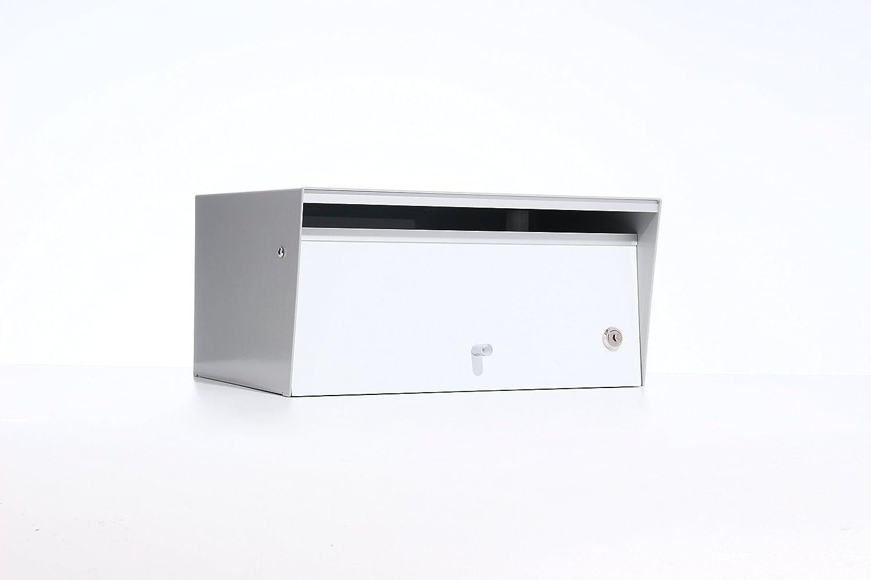 Box Design ポスト 郵便受け Metro White B00W6HWFIK 28620  White