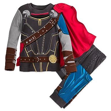 Marvel Thor Costume PJ Pals Pajamas for Boys - Thor Ragnarok Size 3  sc 1 st  Amazon.com & Amazon.com: Marvel Thor Costume PJ PALS Pajamas for Boys - Thor ...