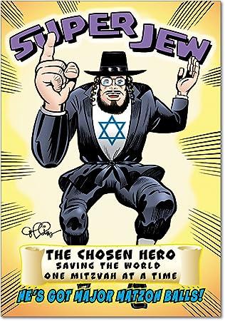 Super Jew Birthday Joke Paper Card Amazonca Office Products