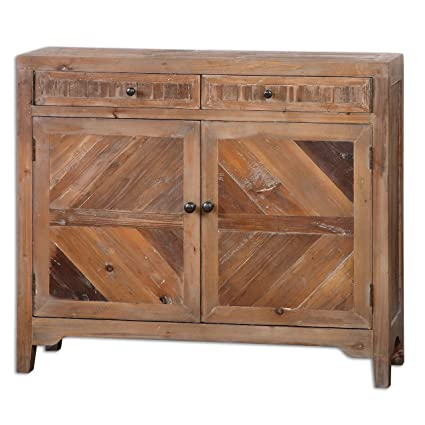 Amazon.com: Reclaimed Wood Console Cabinet | Traditional Sofa Table ...