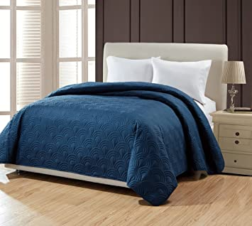 Marvelous BOURINA Reversible Bed Quilt Bedspread And Coverlet 90u0026quot; X 90u0026quot;  Microfiber Thin Comforter