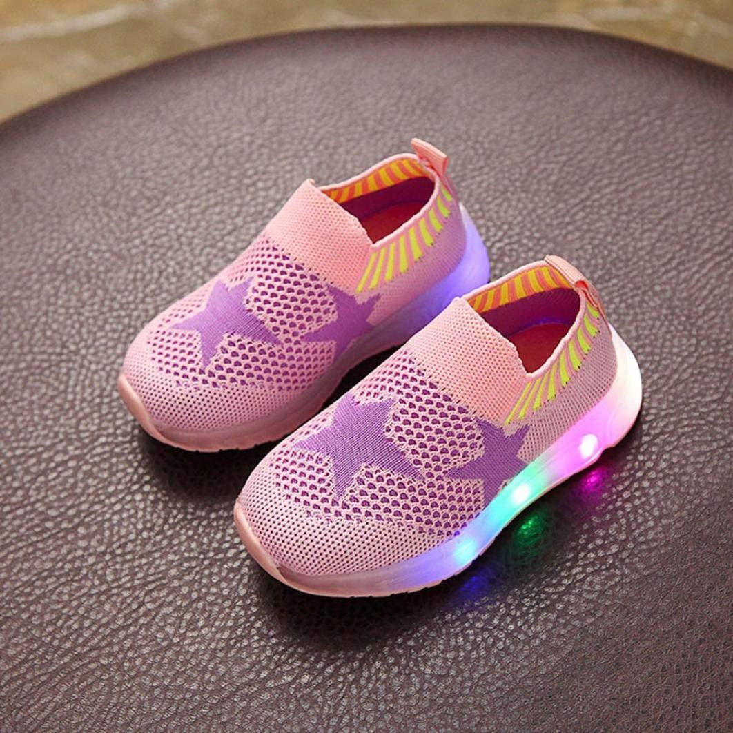 IMJONO Kid Girls Gar/çons Lumi/ère LED Star Luminous Sport Engrener Student CASA Chaussures Enfants