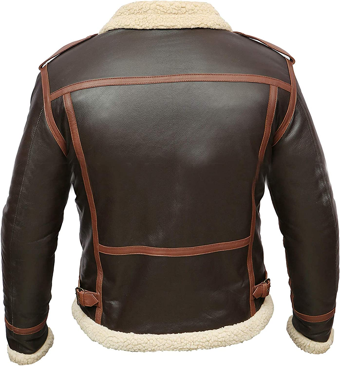 TLE Resident Evil 4 Leon Kennedy Bomber Faux Shearling Gaming Brown Real Leather Jacket