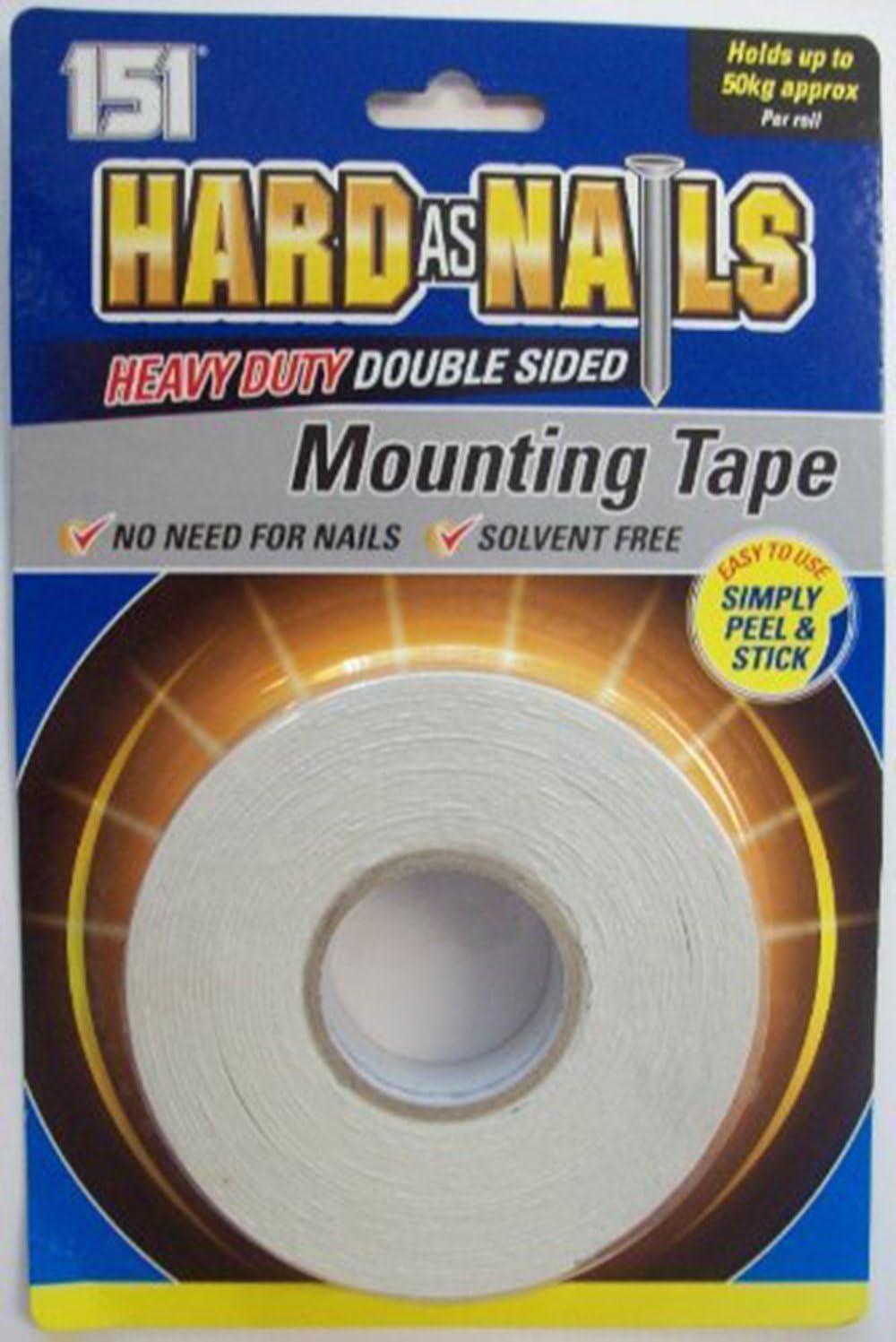 Duro Como clavos Heavy Duty cinta de montaje de doble cara–24mm x 5m