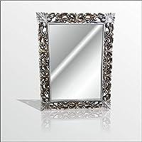 45x60cm Eskitme Gümüş İşleme Rustik Boy Banyo Duvar Salon Aynası