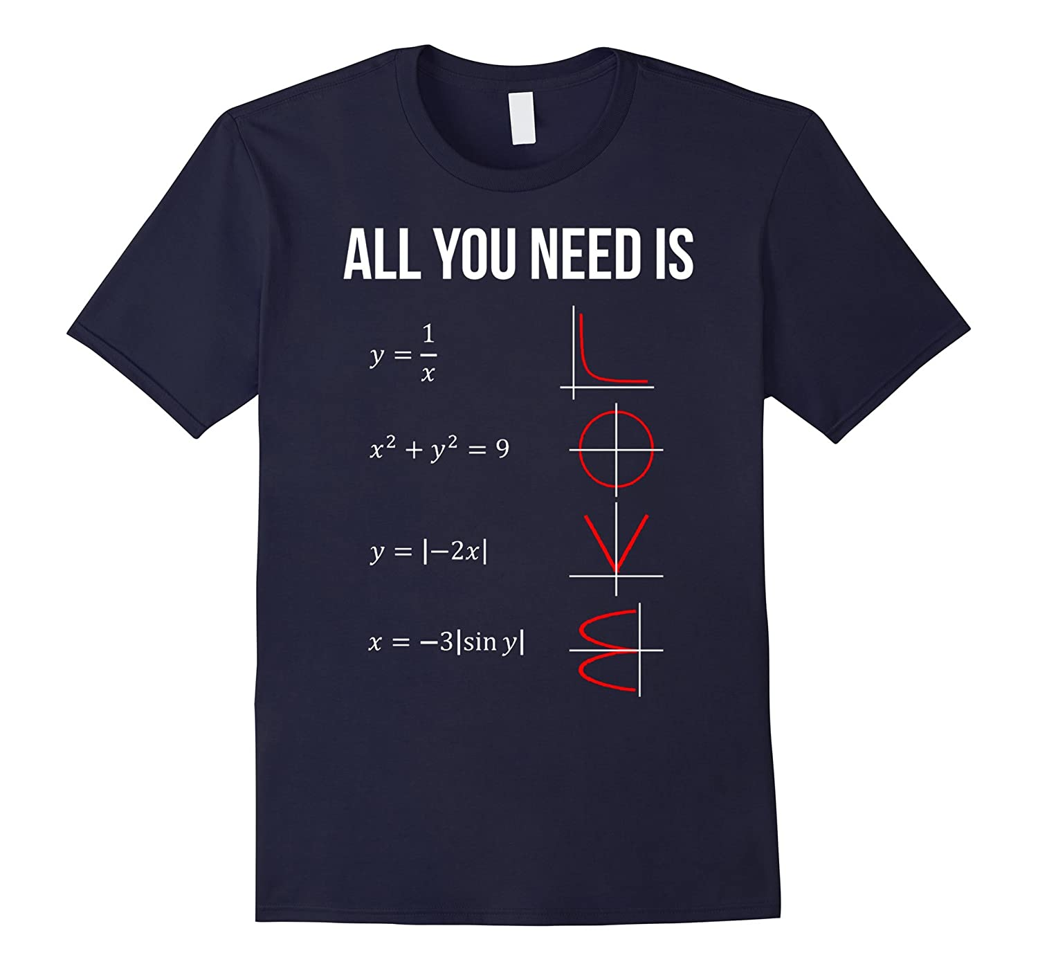 All You Need Is Love Math T-shirt-RT