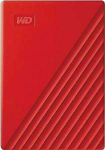 WD 2TB My Passport Portable External Hard Drive, Red - WDBYVG0020BRD-WESN