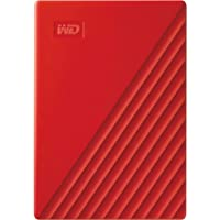 Western Digital 2TB My Passport Portable External Hard Drive, Red - with Automatic Backup, 256Bit AES Hardware Encryption & Software Protection