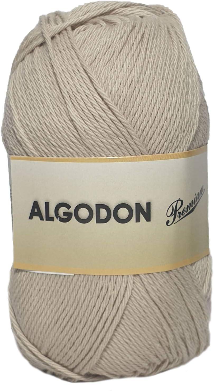 Hilo Acrílico Ovillo de Lana Algodón Premium perfecto para DIY y tejer a mano (Color Beig Claro 100 g, aprox. 220 metros): Amazon.es: Hogar